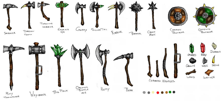 Melee weapon concepts by Proglin on DeviantArt