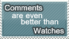Comments Stamp by WetWithRain