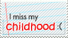 Childhood Stamp by WetWithRain