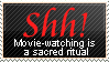Movie-Watching Stamp by WetWithRain