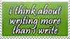 Writing Stamp