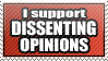 Dissent Stamp by WetWithRain