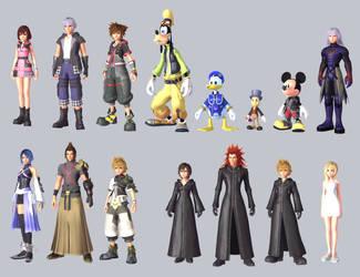 Kingdom Hearts III Characters (PART 1)