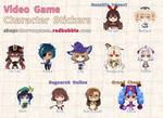 [shop] Chibi Video Game Character stickers