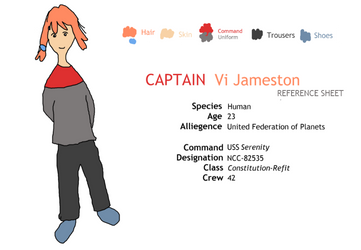 Ref Sheet: Captain Vi Jameston