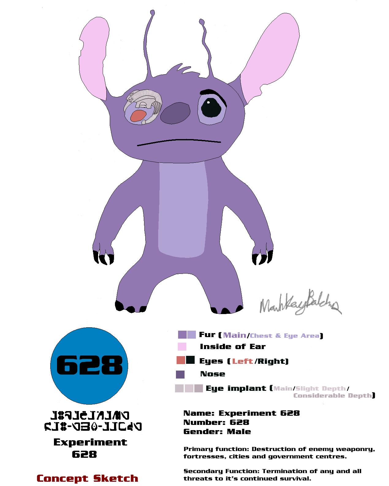 Experiment 628 Reference Sheet by MarkKB Experiment 628 Reference Sheet by  MarkKB