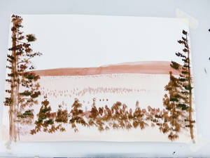 Take 2: Sepia Inking--Landscape and Trees