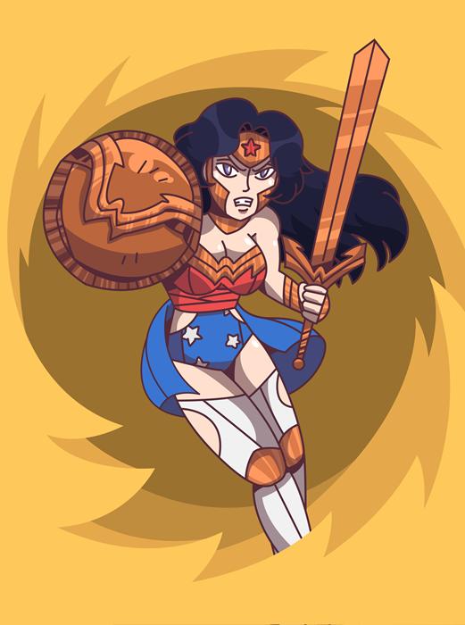 Wonderu !! Wonder Woman -Fanart by sercci-b