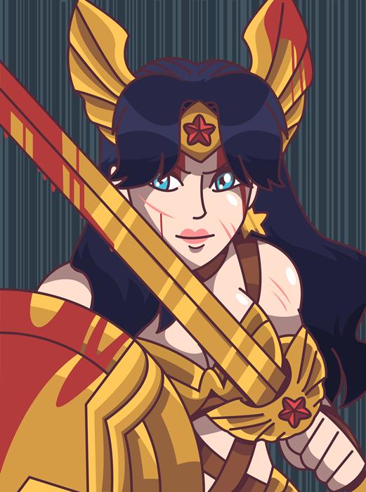 Wonder Woman -Fanart -Portrait by sercci-b