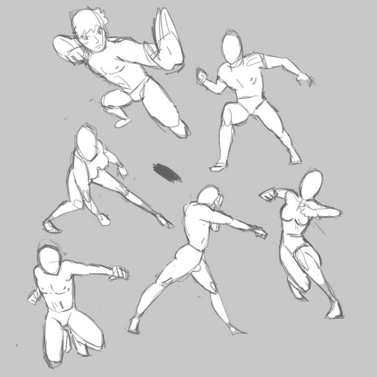 Punch poses practice by sercci-b