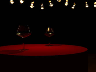 3D Wine glasses by Tiialle