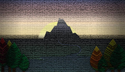 Lonely mountain by Tiialle
