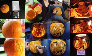 My Braixen Pumpkin: Collage Pokemon