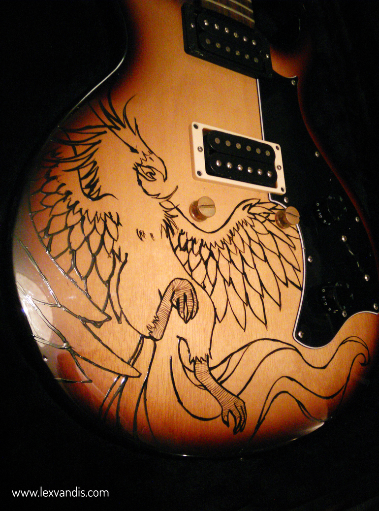 Phoenix Guitar:  A Commissional Work by Lexvandis