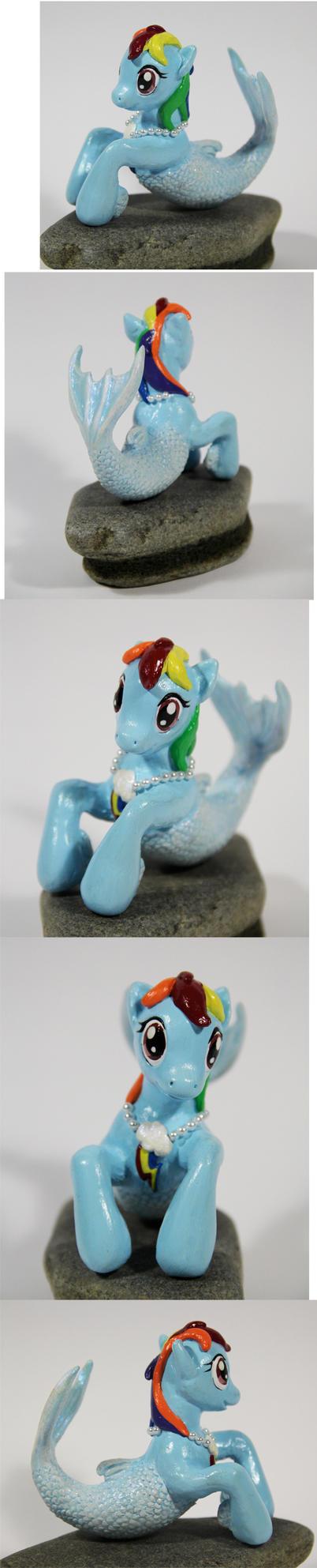 Rainbow Mermaid Dash Pony by elfenkatze