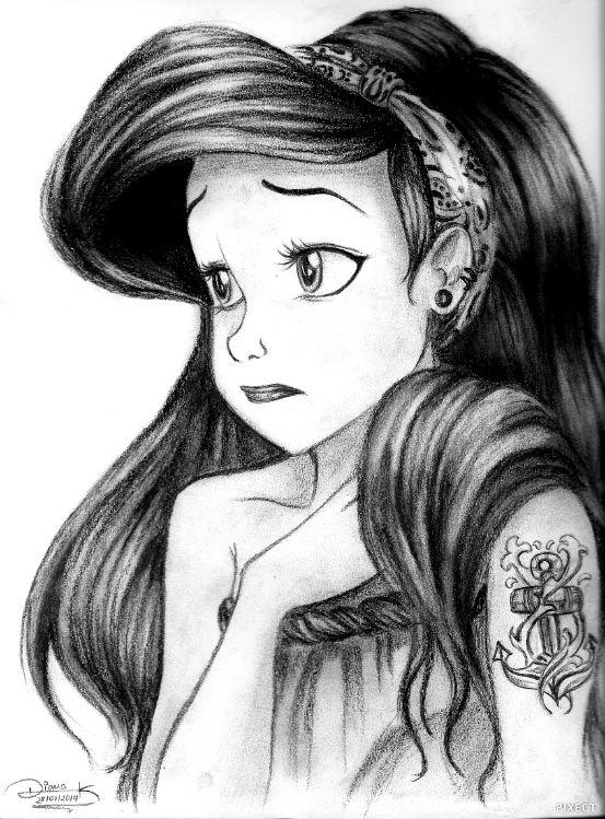 Little Mermaid to Hipster Ariel by Mimi97BlueSky on DeviantArt