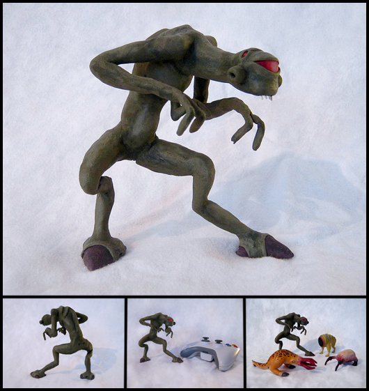 Clay Vortigaunt Figure by WispyChipmunk