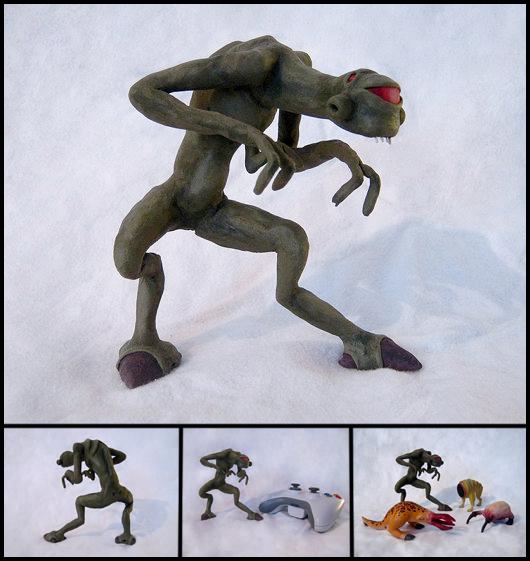 Clay Vortigaunt Figure by WispyChipmunk