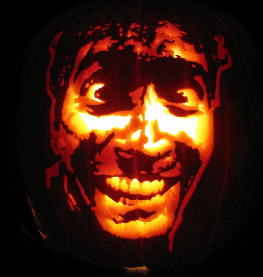 Evil Dead 2 Ash Pumpkin Carving by WispyChipmunk