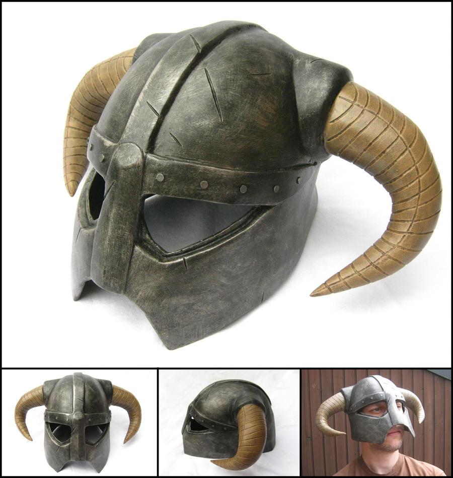 Skyrim Dragonborn Helmet Replica / Prop by WispyChipmunk