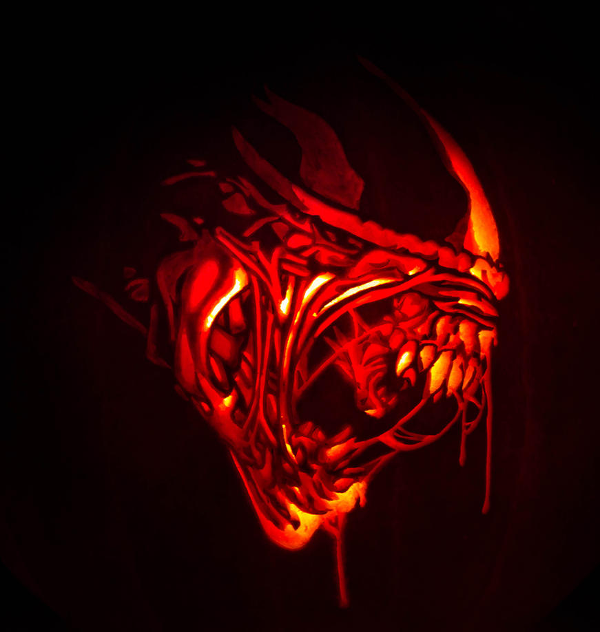 alien pumpkin carving by wispychipmunk on deviantart