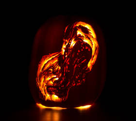 The Thing Split Face Pumpkin