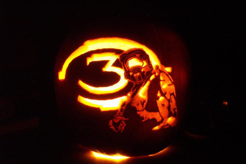 Halo pumpkin by wispychipmunk on deviantart