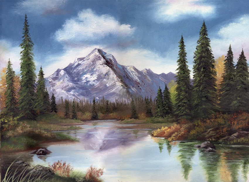 oil painting mountains by wispychipmunk on deviantart