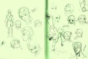 Yuri Sketches by WhytManga