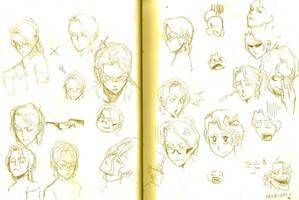 Symon / Saito Sketches by WhytManga