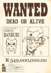 Apple Black: Gideon Banburi Wanted Poster