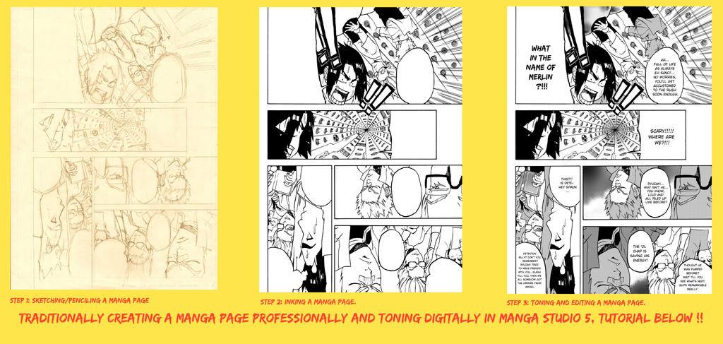 How To Make A Manga Page Professionally by odunze