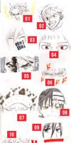 20 Manga Eye Drawings Vol. 2