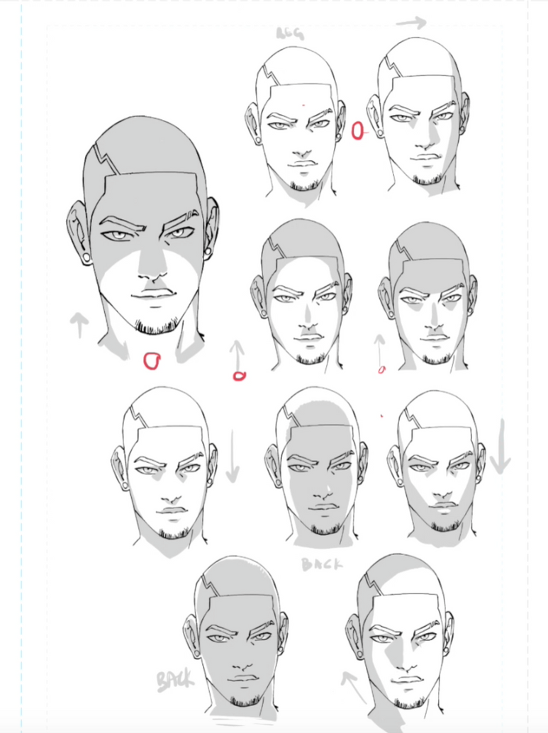 Faces Shaded 10 Ways by WhytManga