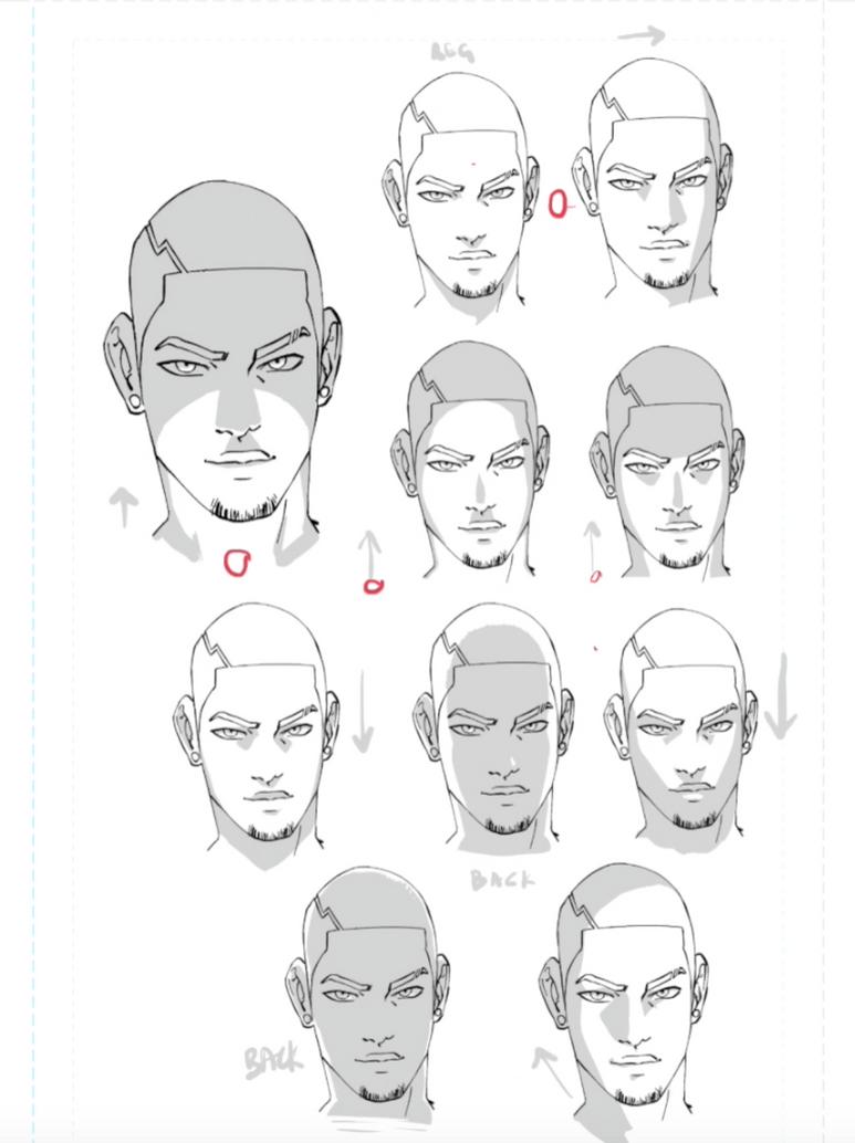 faces shaded 10 ways by whytmanga on deviantart