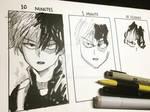 Todoroki Drawn in 10 MINUTES, 1 MIN and 10 SECS