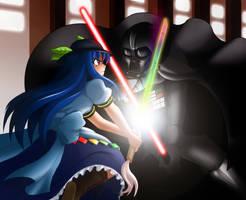 Tenshi versus Darth Vader by mugenjohncel