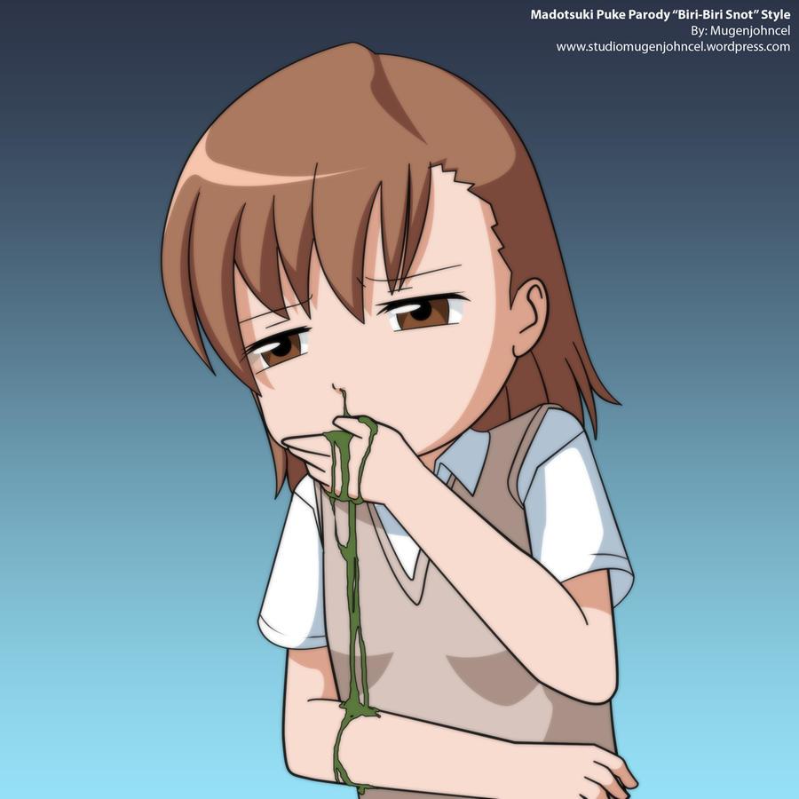 Puking anime girl