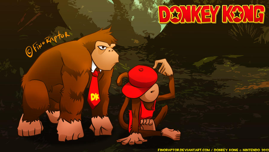 Donkey Kong And Diddy Kong Wallpaper By Finoraptor On