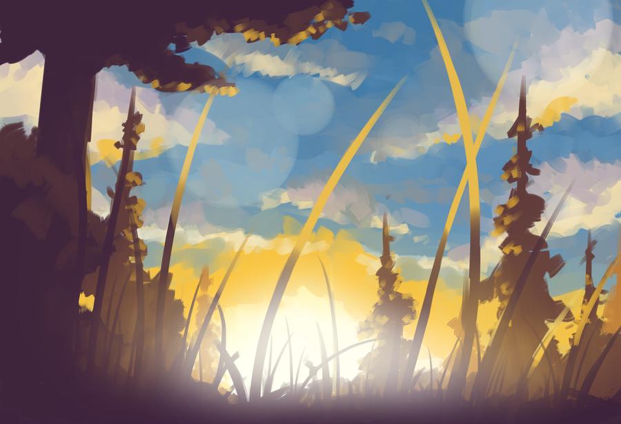 Sunset (so original) by FinoRaptor
