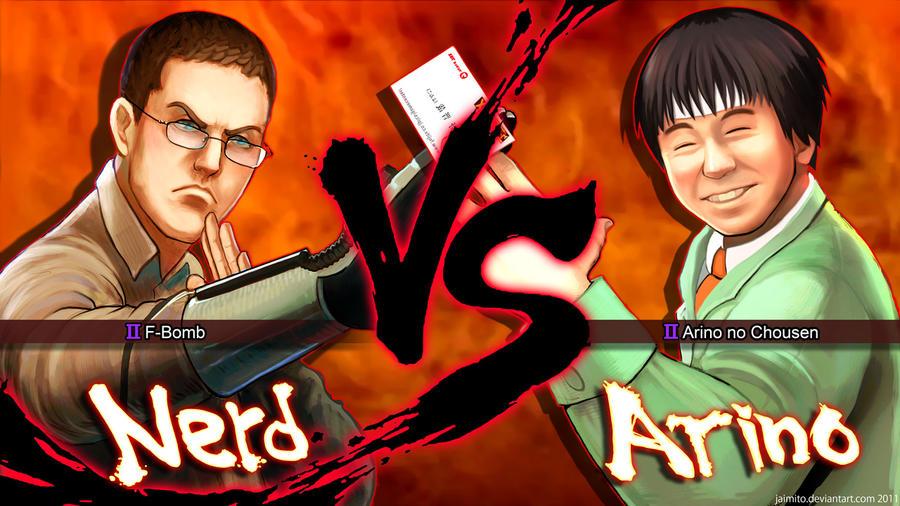 Nerd VS Arino by jaimito