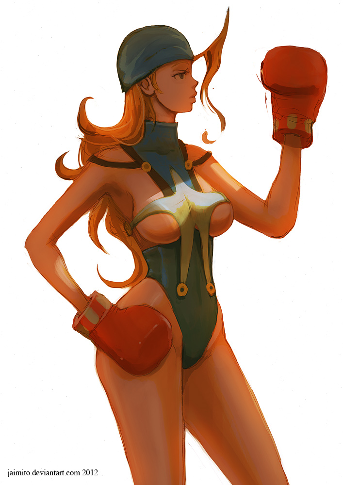 Tiffany and her big gloves by jaimito