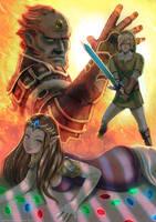 Zelda Ganon and Link by jaimito