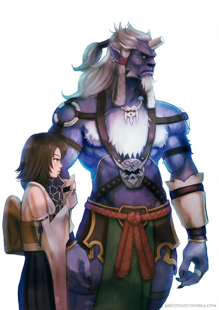 Yuna and Kimahri by jaimito