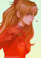 Asuka Langley Portrait by jaimito