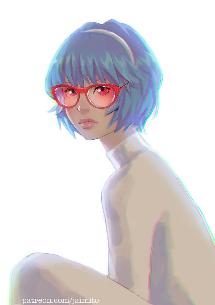 Rei Ayanami Portrait by jaimito