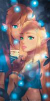 Zelda and Link Bookmark