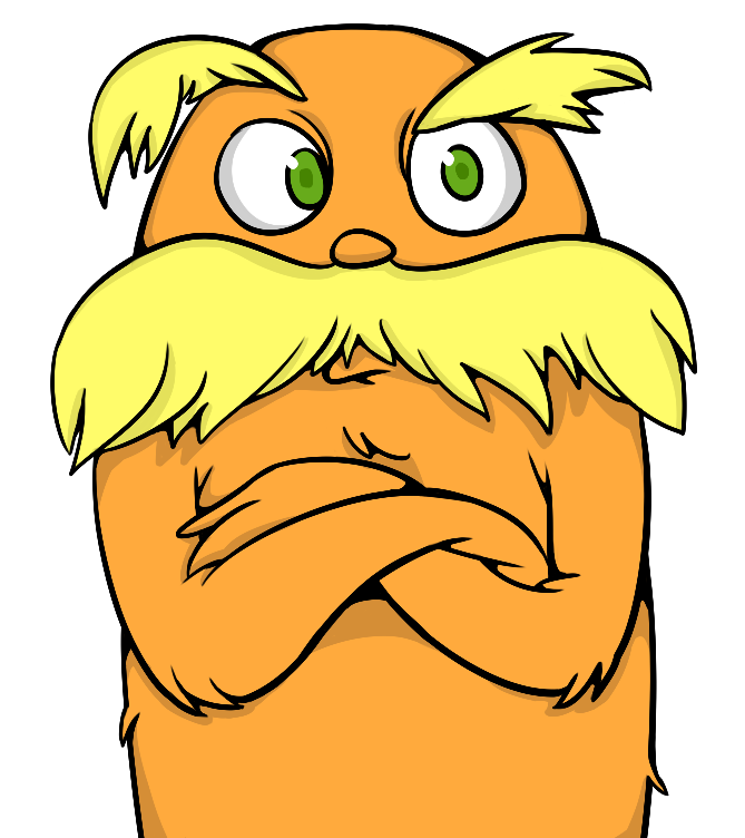 the lorax by beeblez on deviantart lorax clip art black and white lorax mustache clipart