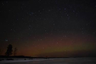 Dim northern lights