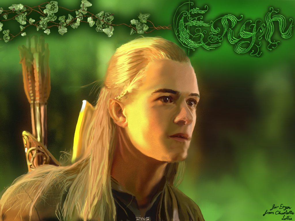 Legolas FanArt - For Eryn by Lady-Lottie